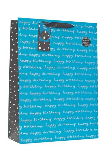 Blue Happy Birthday XL Gift Bag